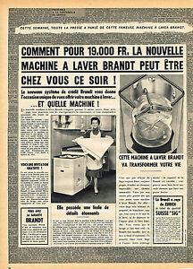Publicite Advertising 1963 Brandt Lave Linge Other Breweriana
