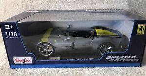 1-18-Maisto-Escala-Ferrari-Monza-SP1-edicion-especial-de-automovil-de-fundicion-Nuevo