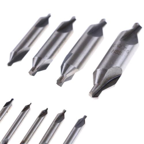 60 Degree Center Drill Countersink Set Angle Bits HSS Lathe Mill Press JH