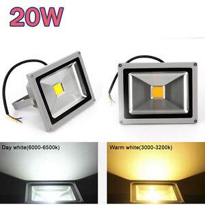 Details About 2x 20w Led Flood Light Warm White Garden Ip65 Outdoor Landscape 90 240v Lamp Uk