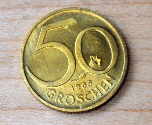 1965 Austria 50 Groschen Stemless Gentian Flower