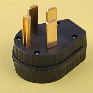 Industrial Grade NEMA 14-50P 50A 125V Straight Blade US Power Plug