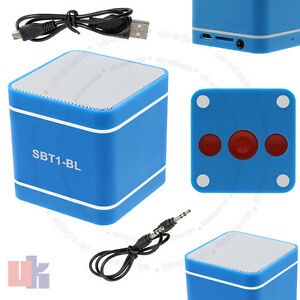 Mini-Azul-300mAh-altavoz-manos-libres-inalambrico-Bluetooth-3-0-para-PC-Telefono-uked