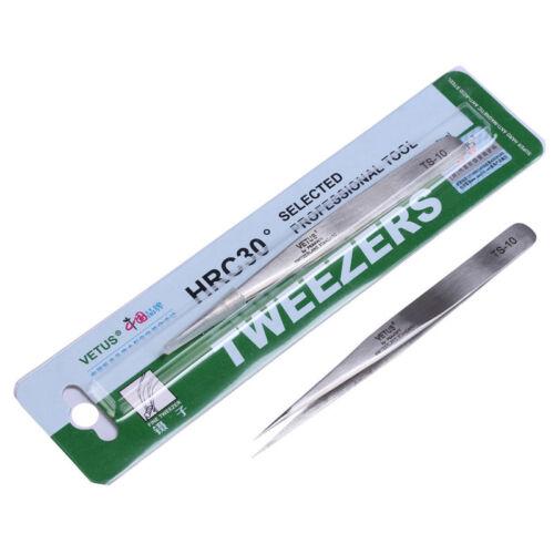 1pc  TS-10 Stainless Steel Vetus Tweezers Precision Diy Hand Tools