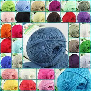 Sale-New-1-Skein-X-50g-SUPER-Soft-Natural-Smooth-Bamboo-Cotton-Knitting-Yarn-D