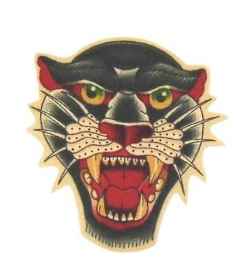 """E33 PANTHER Cat 4/"""" Embroidery Iron-on Patch"""