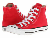 NEW MEN WOMEN CONVERSE CHUCK TAYLOR ALL STAR HI RED WHITE M9621 ORG SO AWESOME