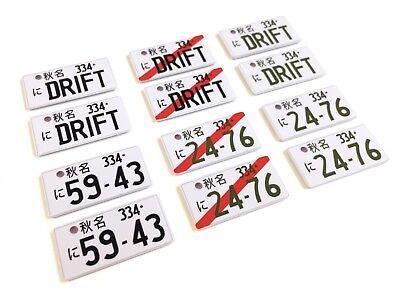Paire de plaques dimmatriculation japonaises en plastique pour voiture 1//10