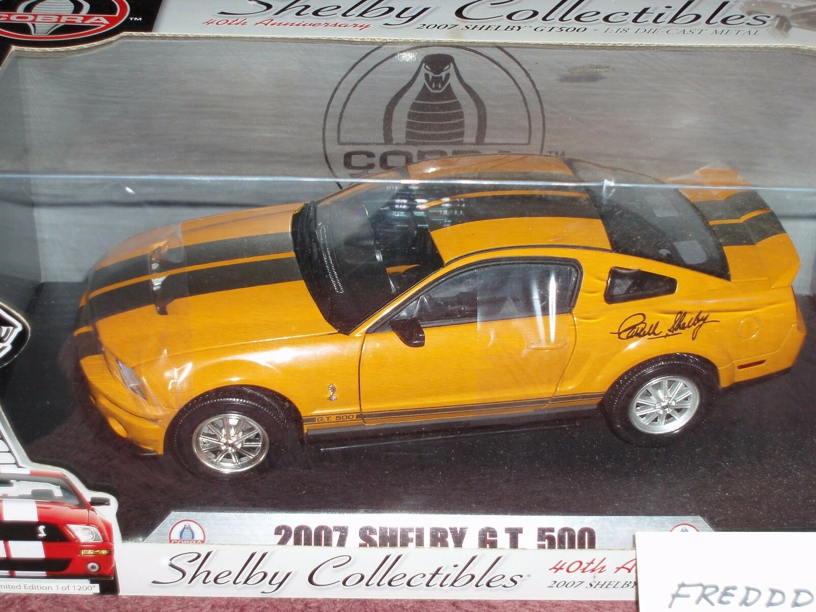 Shelby Collectibles 2007 Ford Shelby Mustang GT500 1 18 Signature Edition