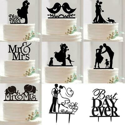 Wedding Engagement Party Bride /&Groom Birds Acrylic Cake Decoration Toppers
