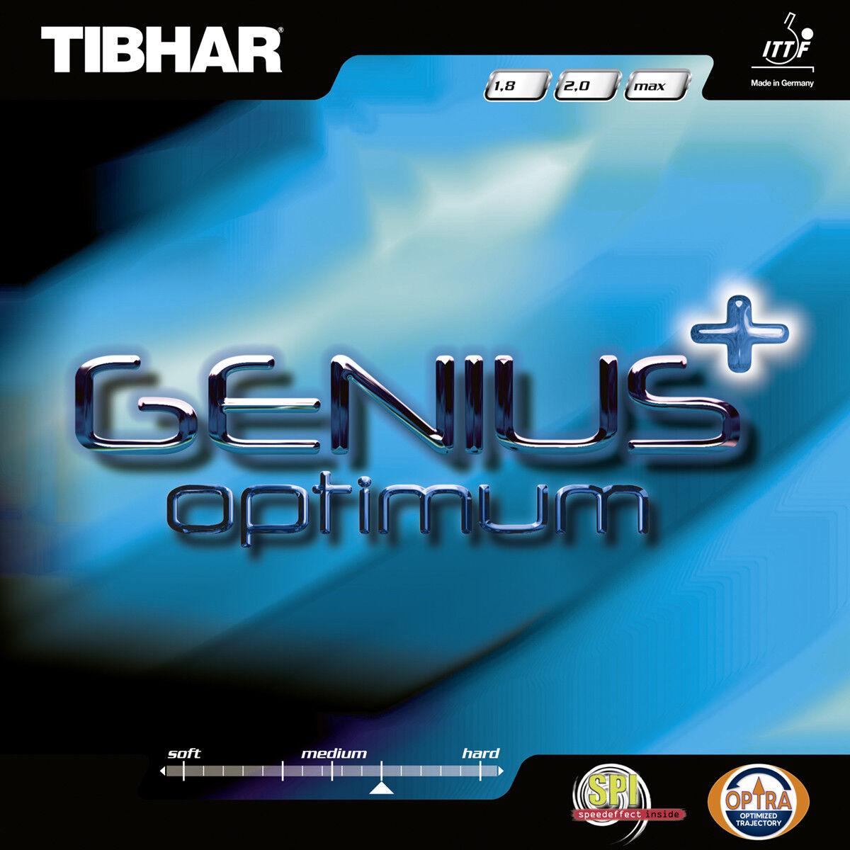 Tibhar Genius + Optimum TENNIS DE table-revêtement surface de tennis de table