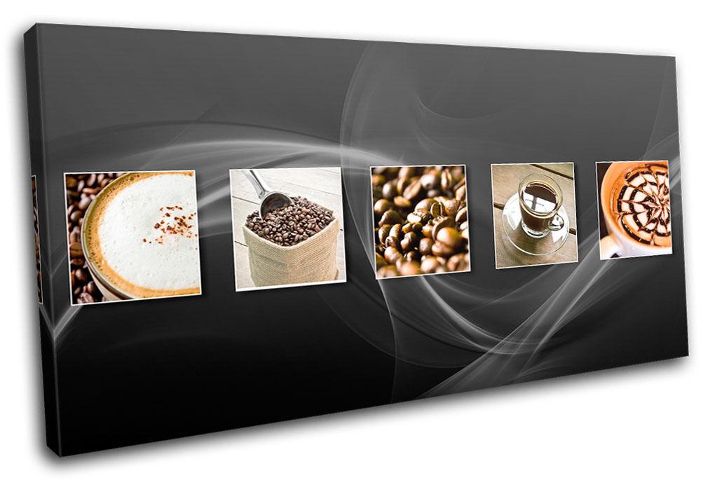 Coffee Tea Esspresso Food Kitchen SINGLE Leinwand Wand Kunst Bild drucken