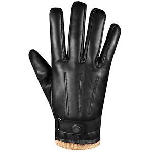 Men-039-s-Premium-Lambskin-Leather-Touchscreen-Winter-Warm-Dress-Driving-Motorcycle