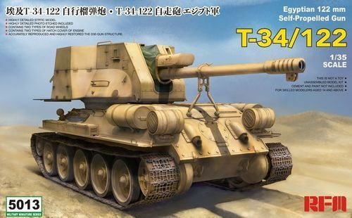 RFM EGYPTIAN T34-122 SELF PROFELLED GUN 1 35 RM5013