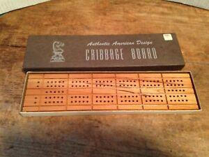 Vintage-Drueke-Cribbage-Board-No-5-w-Instructions-Box-Made-in-USA