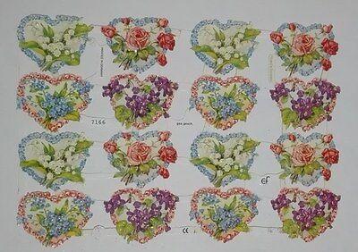 1 Bogen Glanzbilder Poesie Blumen ef 7166 Nr.492