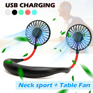 Portable-USB-Rechargeable-Neckband-Dual-Cooling-Mini-Fan-Lazy-Neck-Hanging-Style