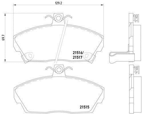 # MDB1659 M1144 MINTEX Brake Pad Set disc brake front