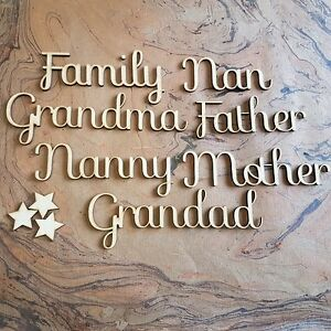Script-034-Family-034-Names-MDF-Wooden-50mm-Relations-Clan-Decor-Artistic-Home-SF