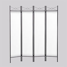 room divider privacy screen 4 panel folding partition home office decor white
