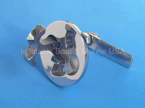 Marine Stainless Steel Boat Hatch Turning Lock Latch Lift Pull Ring T-Handle