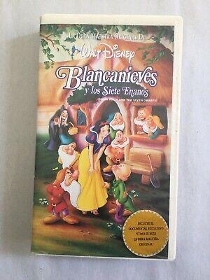 Blancanieves Y Los Siete Enanos Walt Disney Vhs Tape Spanish Snow White Ebay