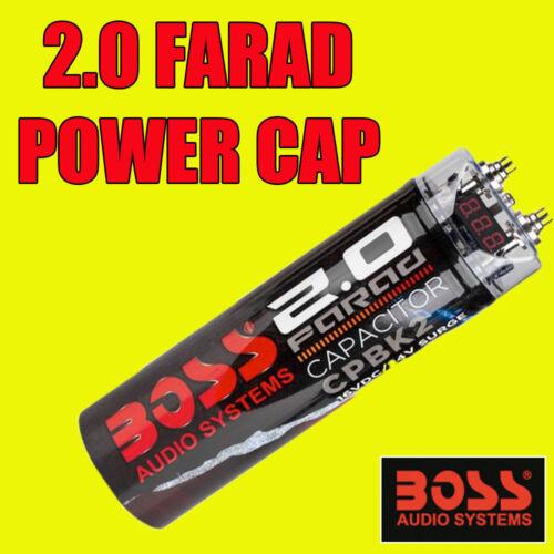 Boss Audio CPBK 2 2.0 FARAD Digital Power Gorra Pantalla Digital para amplificadores de amp