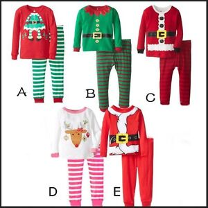 ff4309d0a Baby Kids Boys Girls Christmas Pyjama Set PJ s Nightwear Santa Elf 1 ...