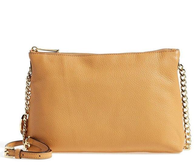 Michael Kors Jet Set Chain Leather Top Zip Messenger Bag