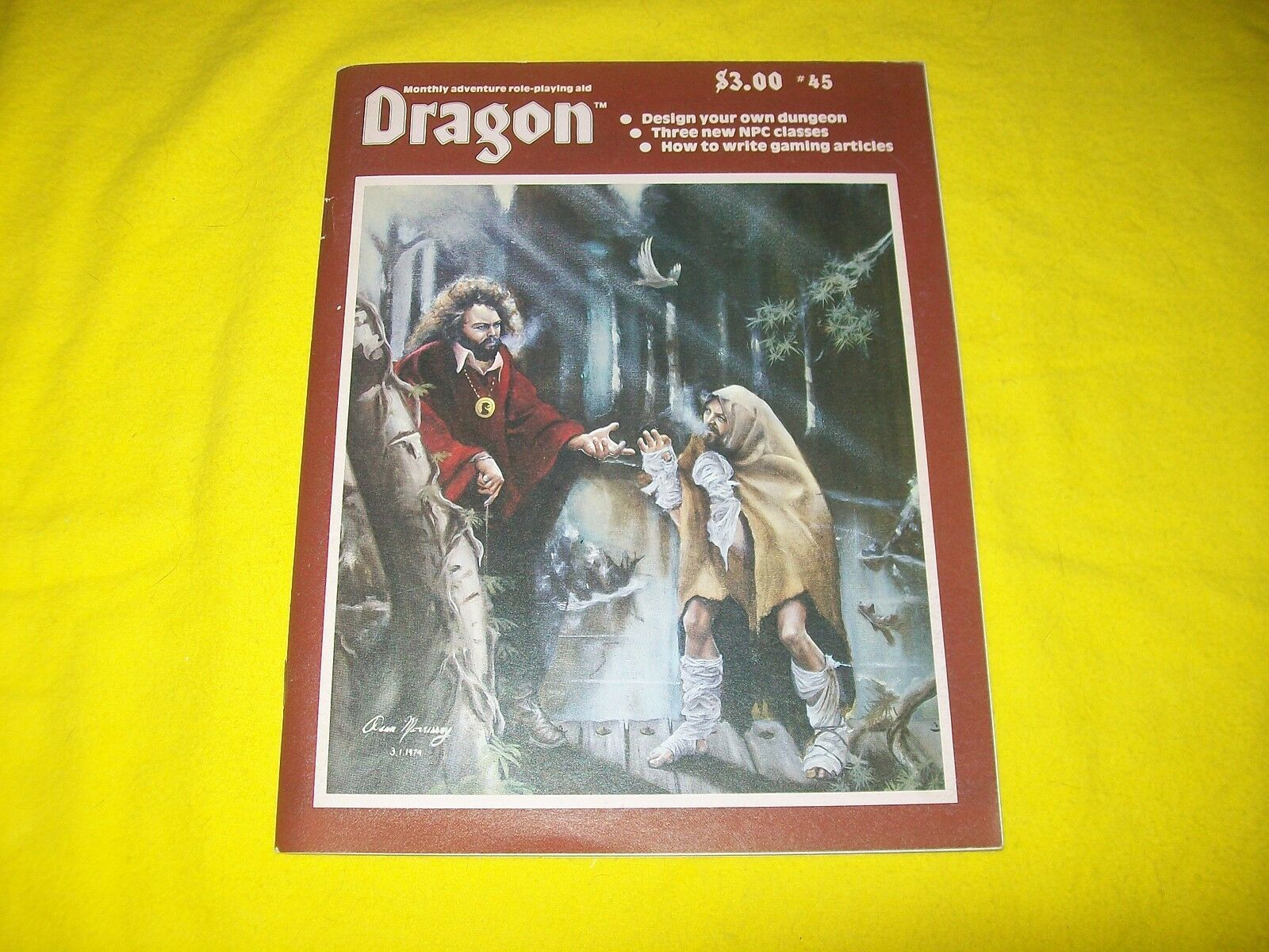 THE DRAGON MAGAZINE DUNGEONS & DRAGONS AD&D TSR - 1 WITH DUNGEON DESIGN KIT