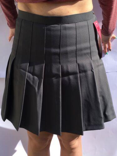 Office Work BNWT High Quality sale Grey Ziggys Designer Pleated School Skirt