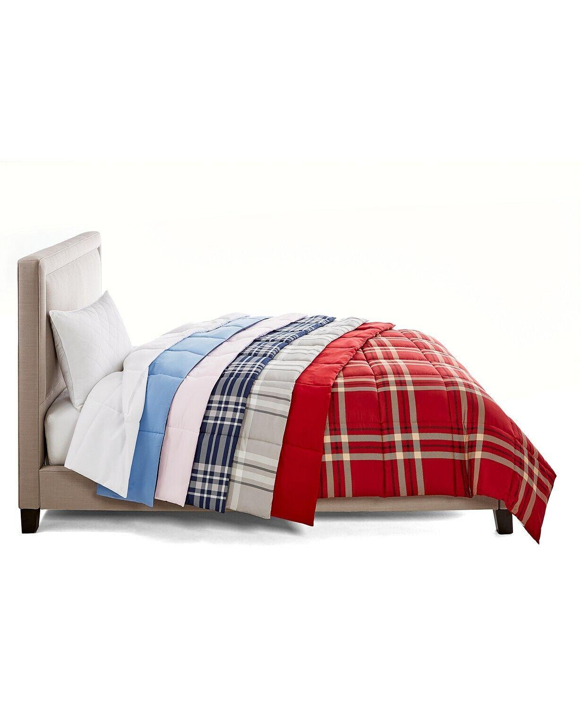 Martha Stewart FULL//QUEEN Comforter Essentials Down Alternative Blue L91099