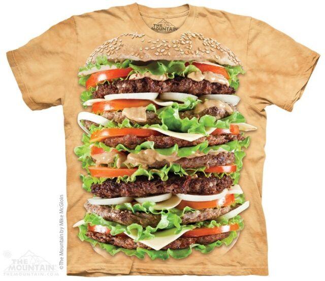 Epic Burger T-Shirt by The Mountain. Cheeseburger Hamburger Big Food S-5XL New