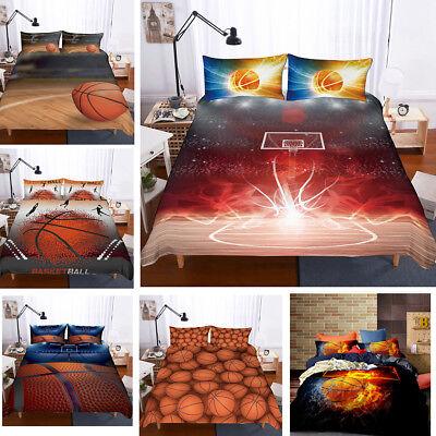 NBA Sports 3D Basketball Bedding Set Duvet Cover Pillowcase Comforter Cover 3PCS