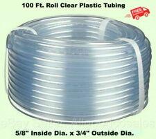 Clear Plastic Tubing 100 Roll 58 Inside Dia X 34 Outside Dia Flexible