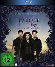 TWILIGHT 1 2 3 4 Complete Collection BISS IN ALLE EWIGKEIT 6 BLU-RAY Slim BOX