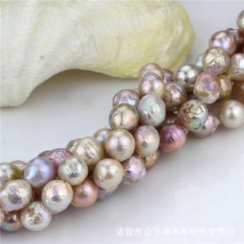 Natural 14-16mm Huge Multicolor Baroque Pearl Loose Bead 15/'/' AAA