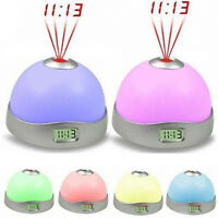 Changing Snooze Digital LED Projector Projection Alarm Clock Star Night Light