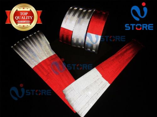 DOT C2 Conspicuity Reflective Tape 7 White & 11 Red Safety Warning Trailer RV