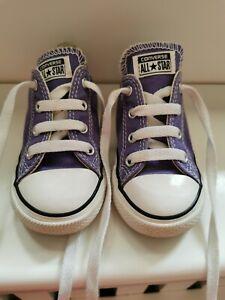 Vgc Lilac purple Converse Infant Size 8