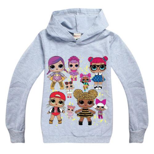 Neu LoL Surprise Dolls Mädchen Sweatshirt Langarm T-shirt Herbst Frühling Hoodie