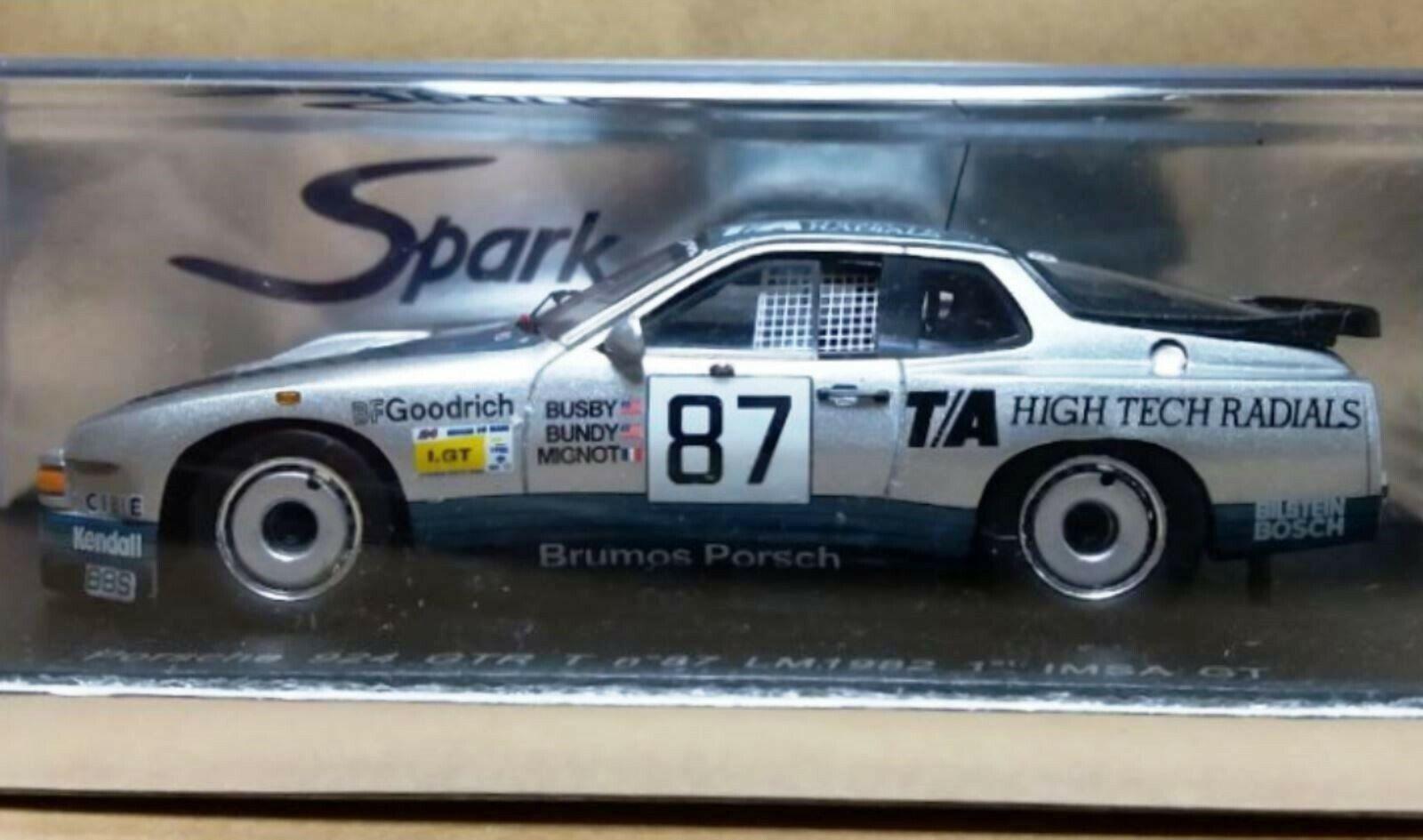 Wow extrêmement rare PORSCHE 924 GTR 1982  87 CLASS WINNER LE MANS resin 1 43 Spark