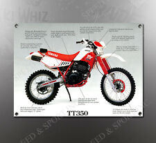 VINTAGE YAMAHA TT350 IMAGE BANNER NOS IMAGE REPRODUCTION