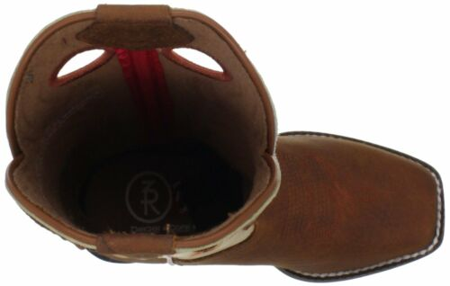 TONY LAMA 3R Children/'s Youth Kid/'s Brown Leather Square Toe Boots LL400 NIB