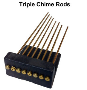 New-Hermle-Triple-or-Westminster-Chime-Rod-Set-for-Mantle-Clocks-5-or-8-Rods