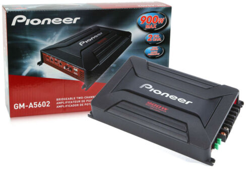 MONO CLASS AB CAR AUDIO STEREO AMPLIFIER AMP PIONEER GM-A5602 900W 2 CHANNEL