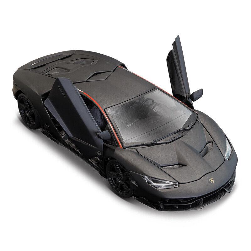 MAISTO 1 18 Lamborghini LP770-4 Centenario Diecast Modèle Voiture De Course Noir Mat