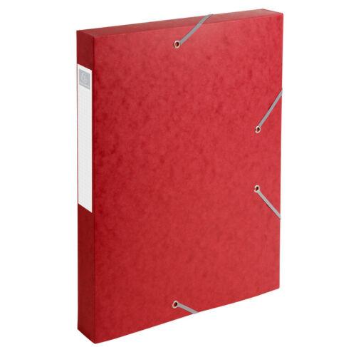 Archivbox 40mm Rücken Nature rot