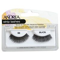 Andrea Strip Lashes, Black [33] 1 Pair (pack Of 5) on sale
