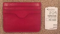 Women's Neiman Marcus Red Leather Card Case Keeper/holder